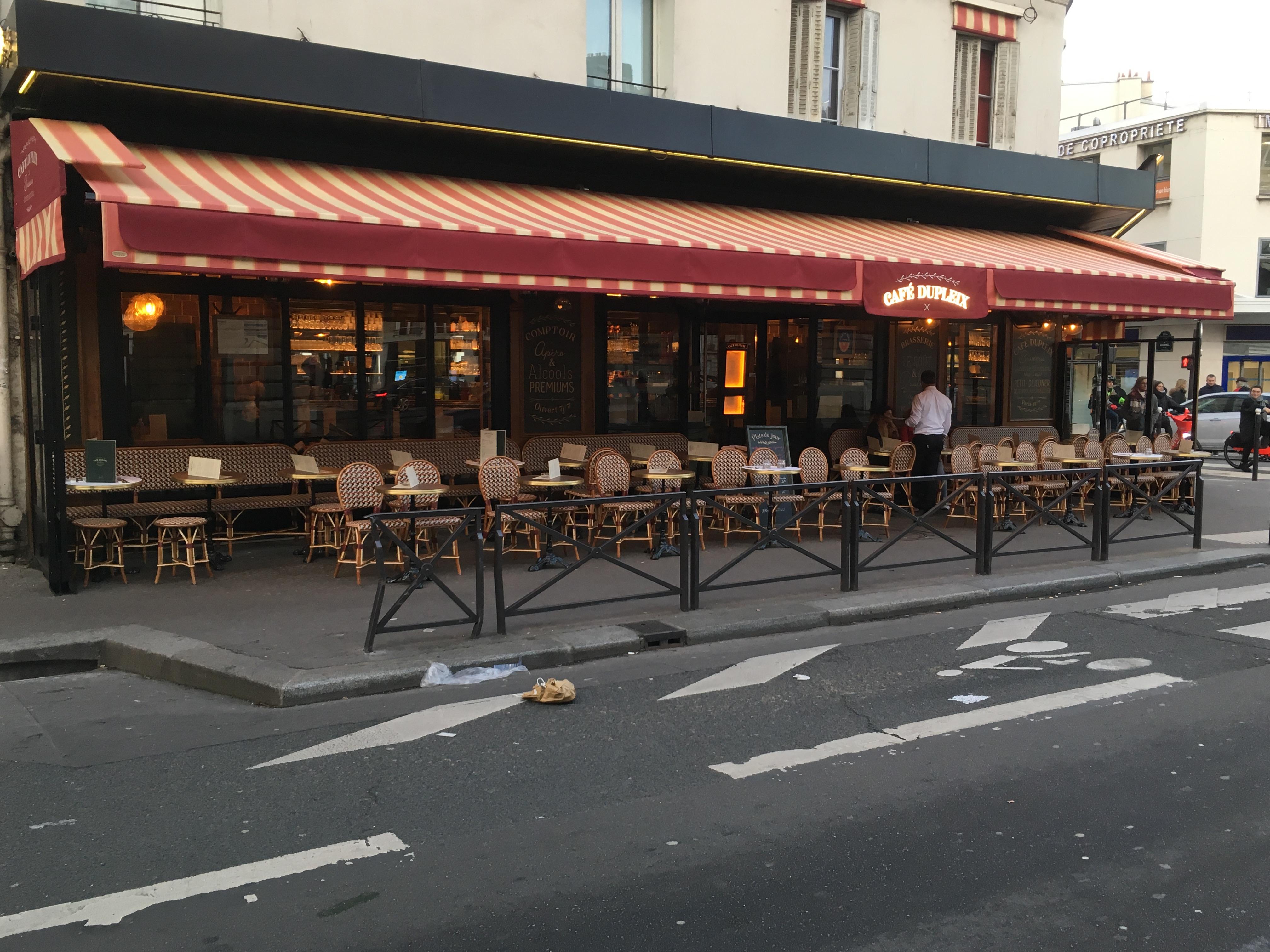 stores croisillons acier Paris 75015 stores Dupont Kine
