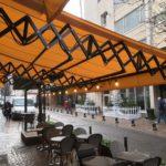 Stores acier pantographes retros Levallois Perret stores Dupont Kine