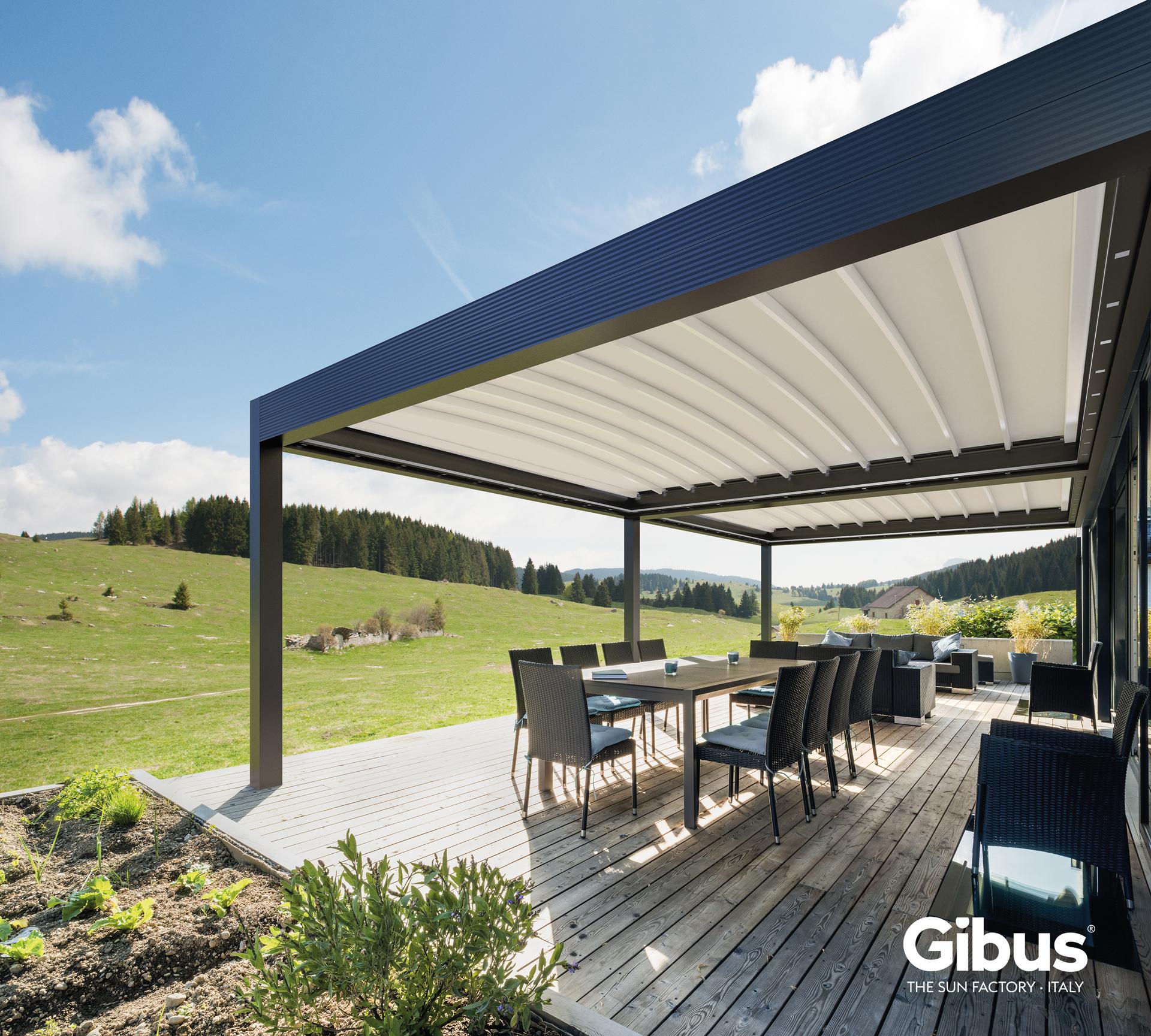 Photo Gibus Med Zenit_1 Pergolas horizontales Gibus® stores Dupont Kine