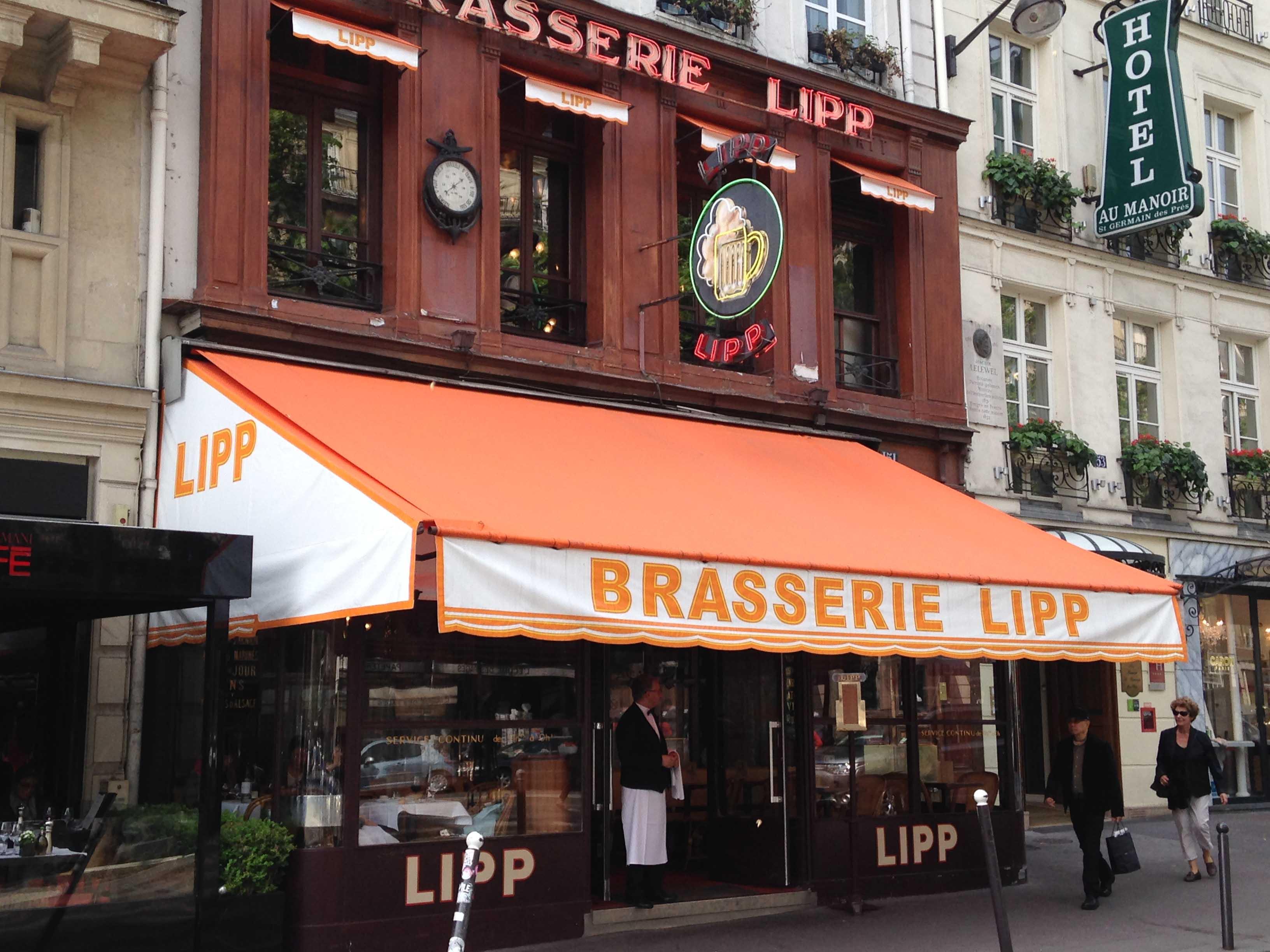 store brasserie paris dupont kine lipp saint germain des prés